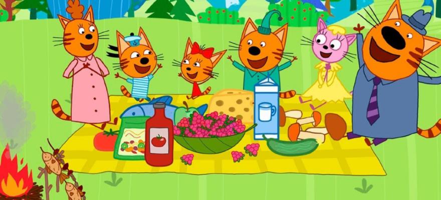 3 кота пикник